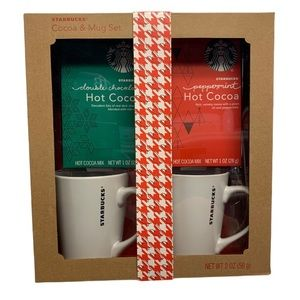 Starbucks Holiday Cocoa & Mug Gift Set For 2
